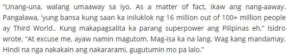 Presidential Sister Has Fighting Words For Agot Isidro: 'May Ambition Ka Ba'ng Pumasok Sa Politika? Mag-Aral Muna Kayo!'