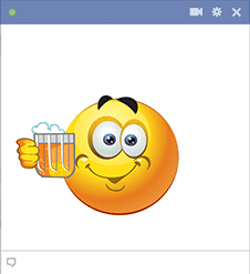 Smiley beer cheers