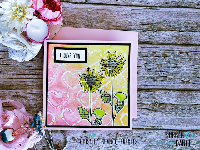 Priss BlaFu Card with Sunflowers for love