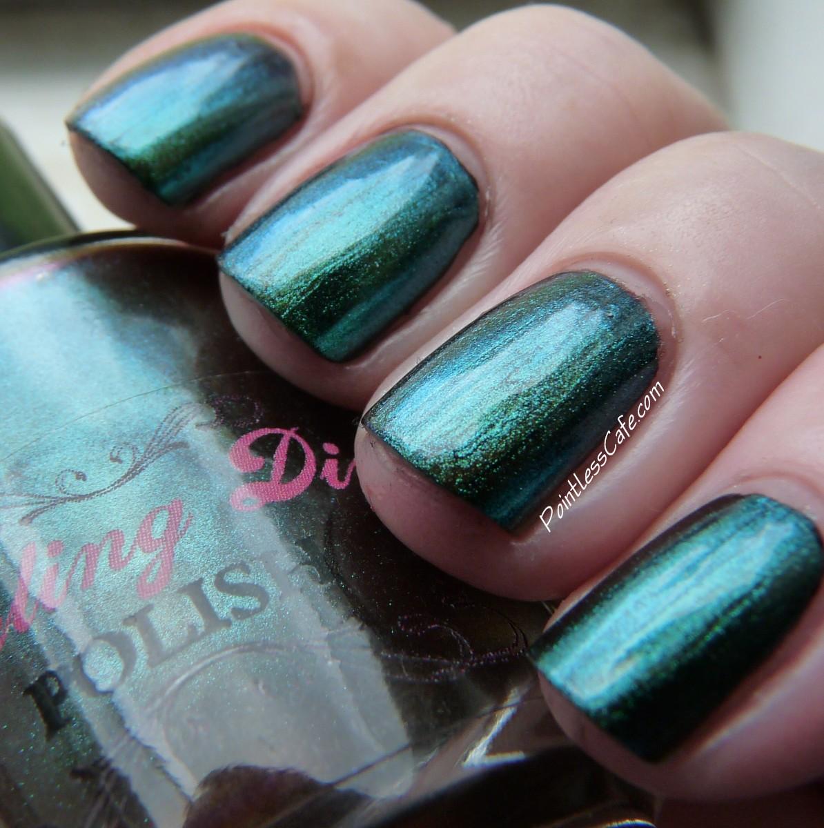 Darling Diva Polish - Bad Girl and Sakura   Pointless Cafe