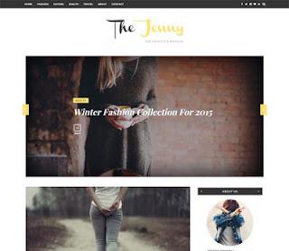 Jenny тема для blogger 2017