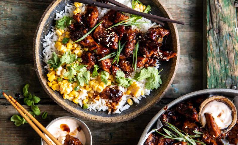 25 Minute Korean Bulgogi BBQ Chicken with Spicy Garlic Butter Corn