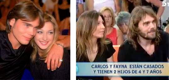 Carlos Navarro y Fayna Bethencourt en la actualidad, casados, hijos