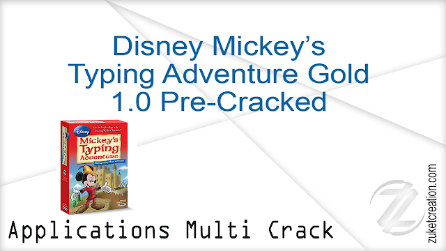 Disney Mickey's Typing Adventure Gold 1.0 Pre-Cracked   |  381 MB