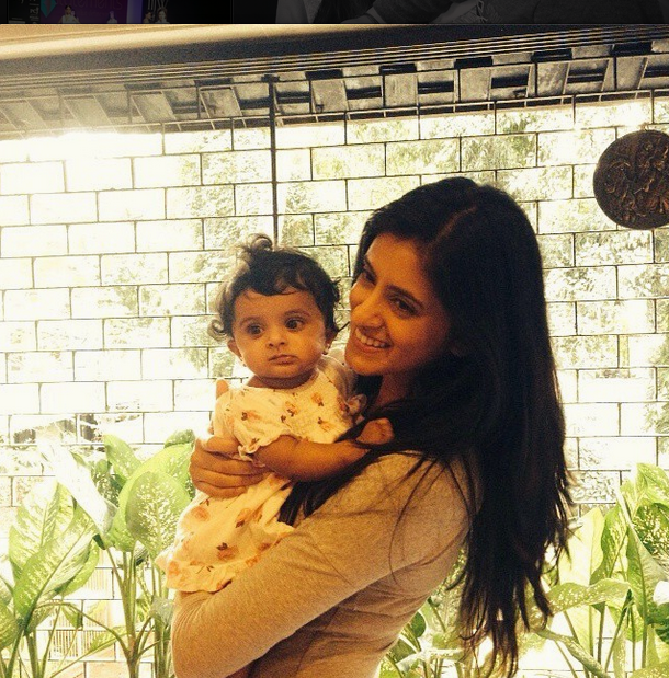 Mihika Verma with baby