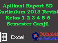 Aplikasi Raport SD Kurikulum 2013 Revisi Kelas 1 2 3 4 5 6 Semester Ganjil