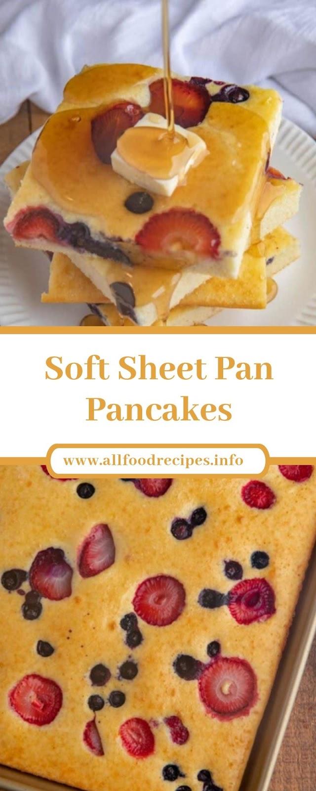 Soft Sheet Pan Pancakes