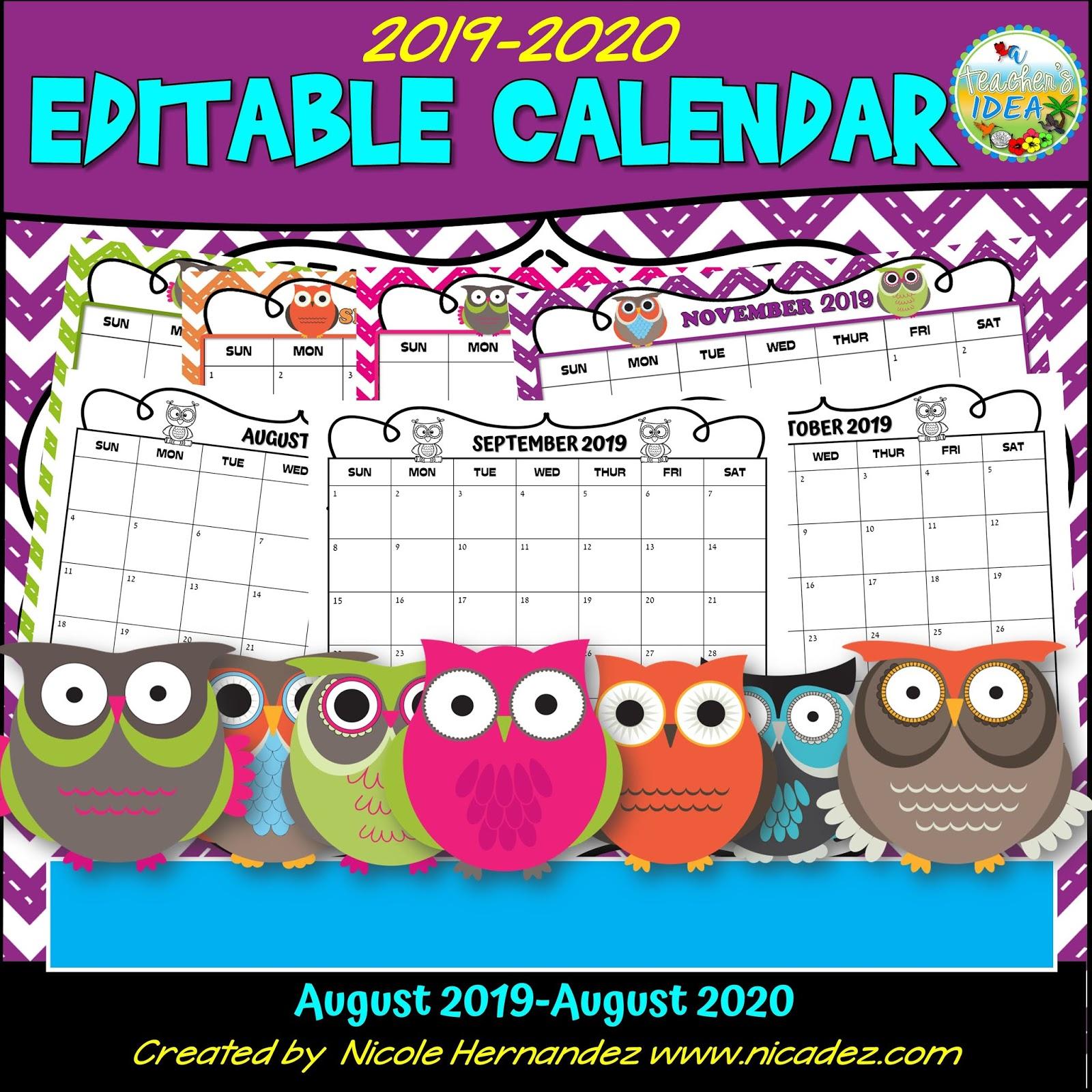 Quotes Teacher Calendar 2019 2020: A Teacher's Idea