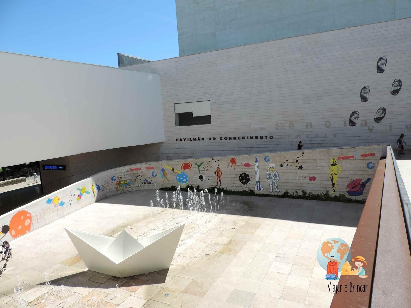 Entrada do Pavilhão do Conhecimento em Lisboa