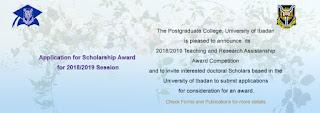 UI Postgraduate School Teaching/Research Assistantship Award 2018/19