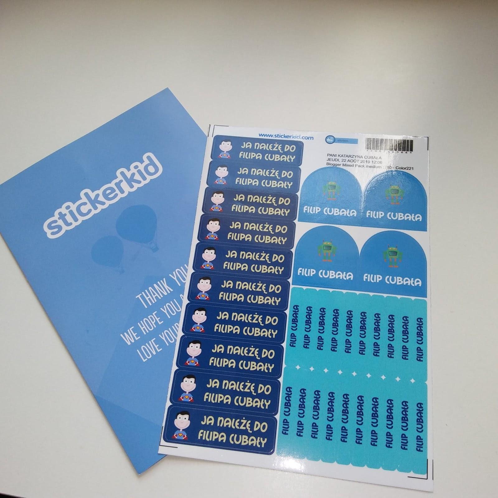 Stickerkid- Personalizowane naklejki