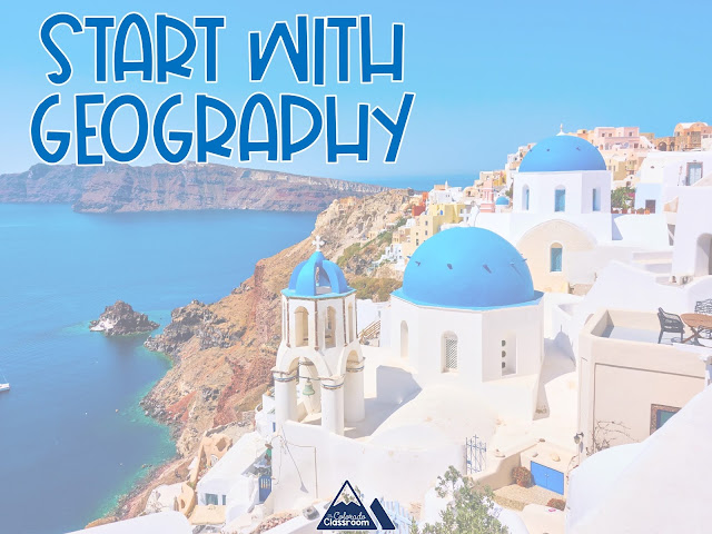 Start with the geography of Greece