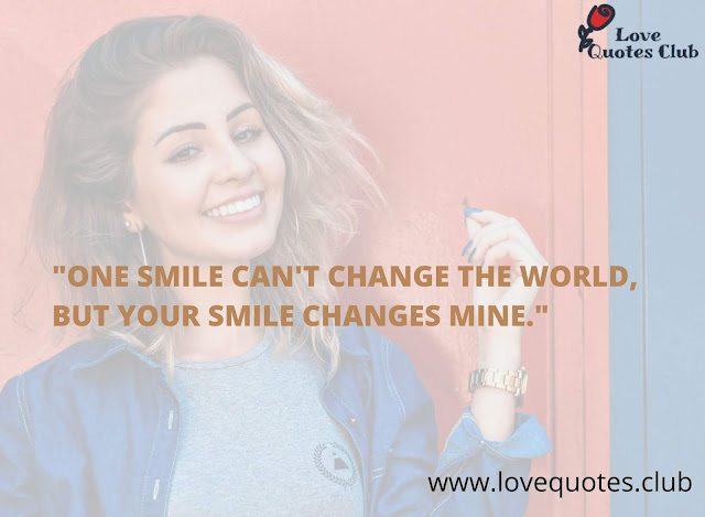 love quotes about smile