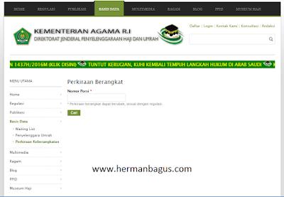 Website Cara Cek Status Perkiraan Berangkat Haji - Hermanbagus- paint