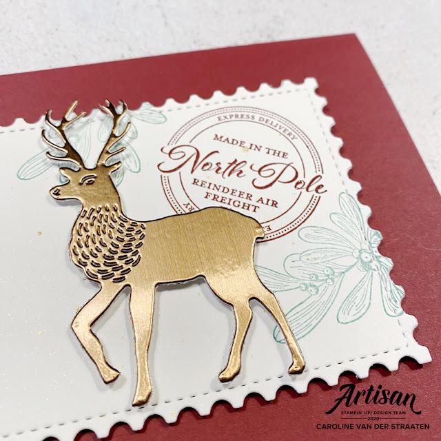 Stampin' Up! - Wishes & Wonder - kerstkaart - christmascard - slimline - Caro's Kaartjes - Artisan Design Team