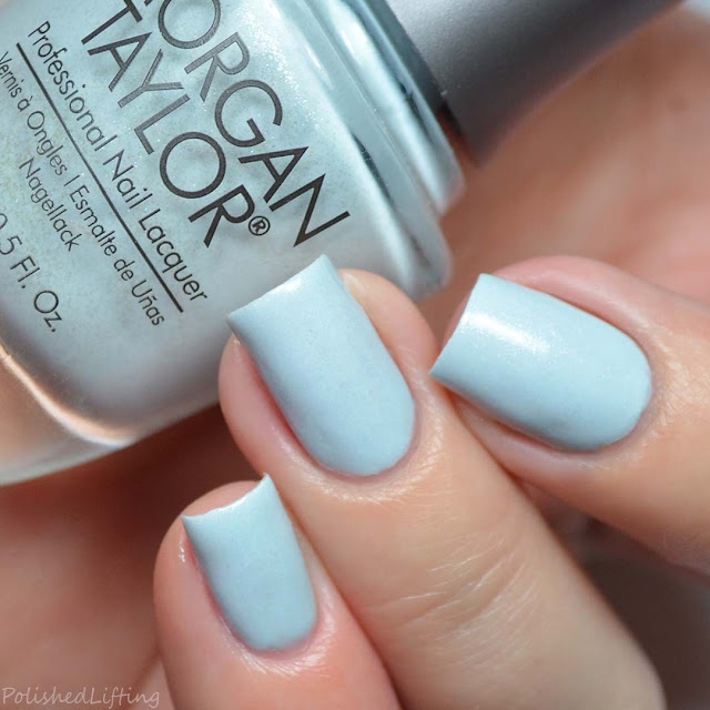 pale blue nail polish