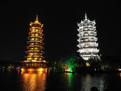 pagodas guilin china