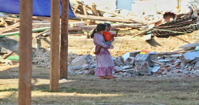 Relawan Marah Melihat Kondisi Lombok Pasca Gempa Besar