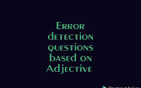 Error detection questions based on Adjective for SSC, BANK and other exams