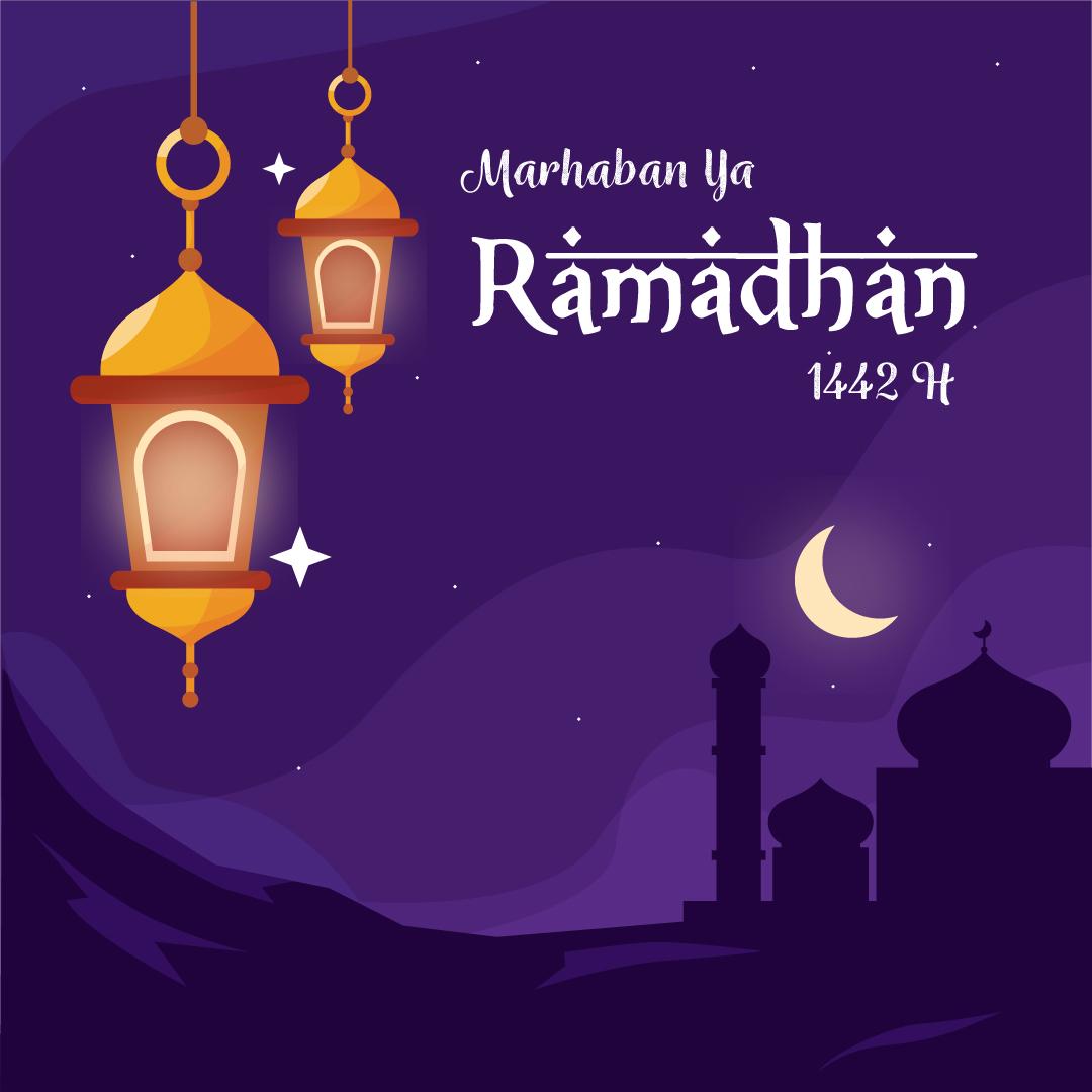 Gambar Ucapan Marhaban Ya Ramadhan 1442 H / 2021 M
