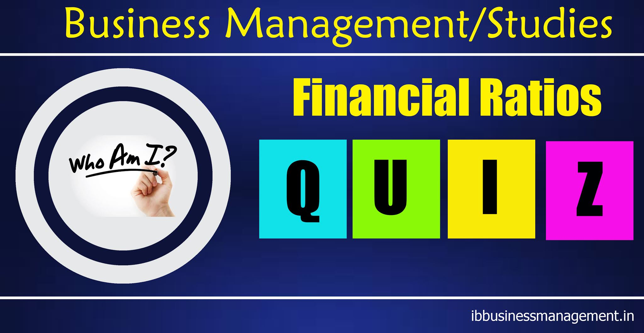 Business Management and Studies Financial Ratios Quiz