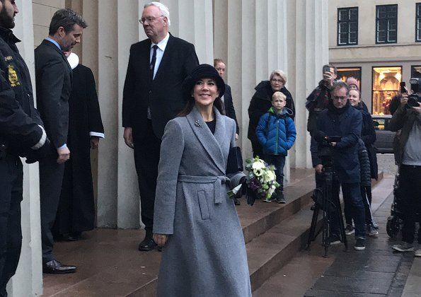 Crown Prince Frederik and Crown Princess Mary attended a church service at Church of Our Lady. Massimo Dutti