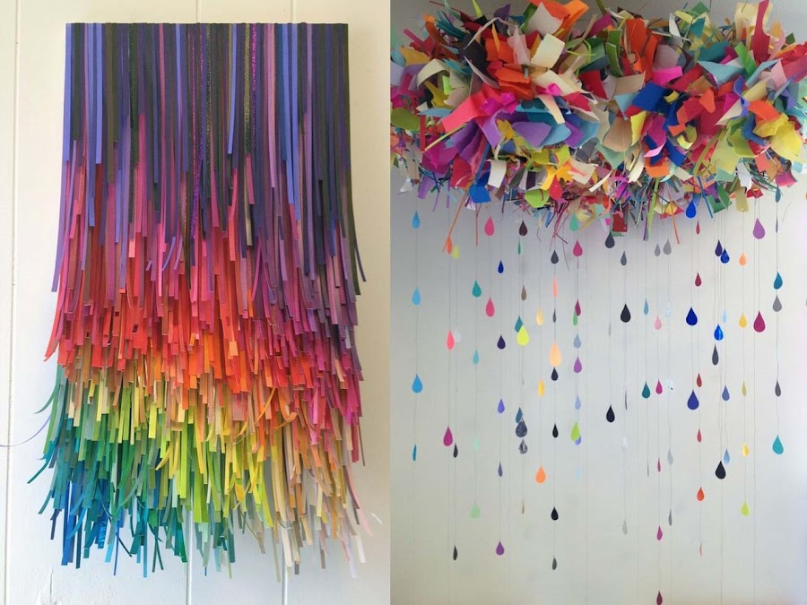 Manualidades con papel para decorar paredes