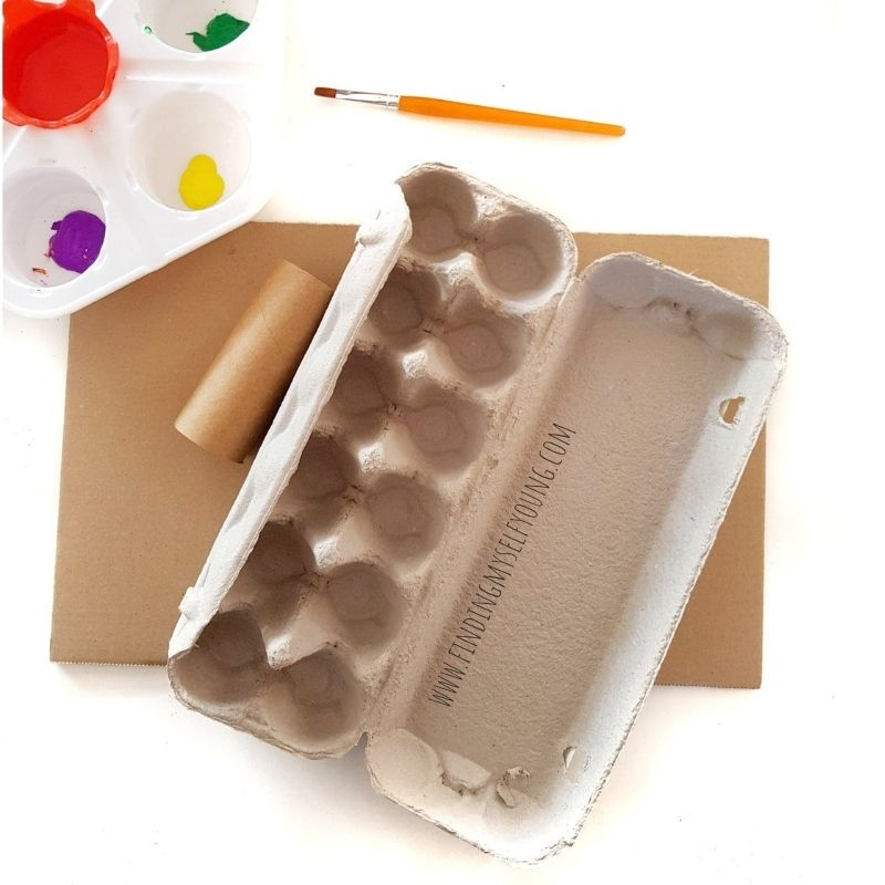 materials needed to make egg carton flowers