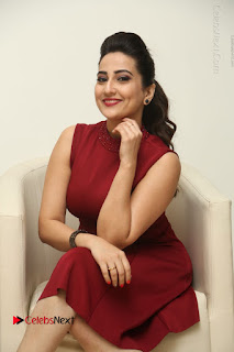 Telugu Tollywood Anchor Manjusha Pos in Red Short Dress  0087.JPG