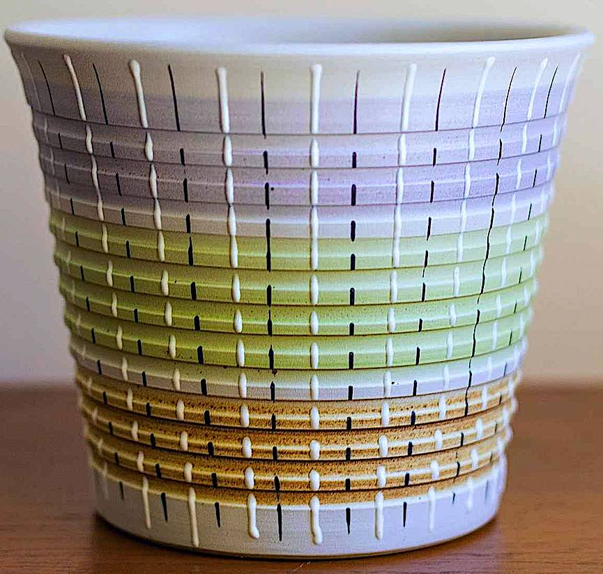 color photograph of a Denby pot, 1958