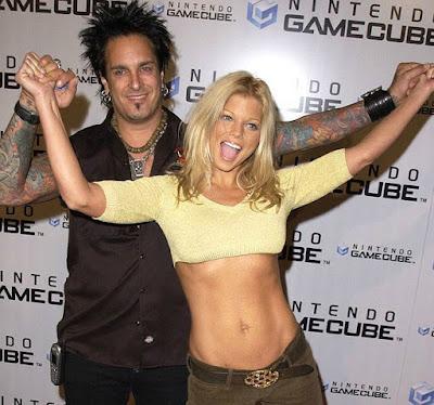 Nikki Sixx with his ex-wife