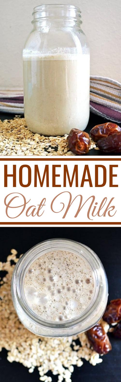 Homemade Oat Milk #healthy #drinks #milk #vegan #breakfast