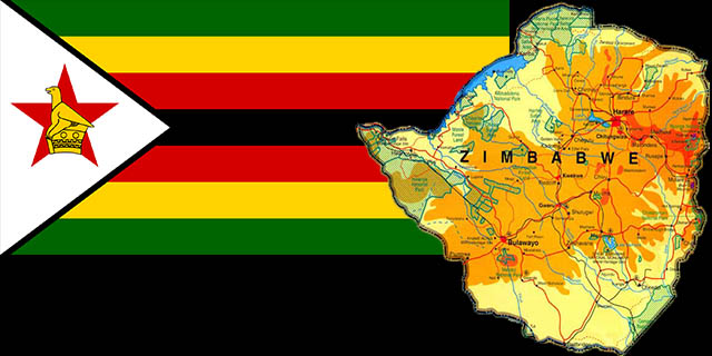 Zimbabwe flag and country Paula Hawkins birthplace