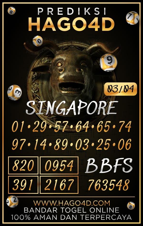 Prediksi Hago4D - Rabu, 3 April 2021 - Prediksi Togel Singapore