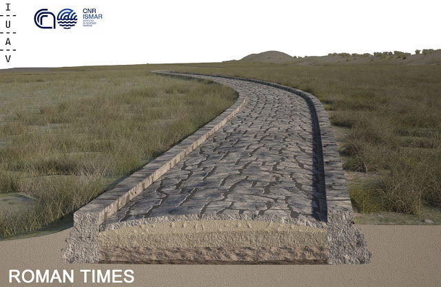 Roman road discovered in the Venice lagoon