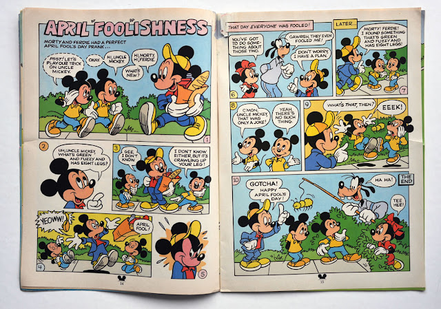 "April ""Fool""ishness with Mickey, Morty, Ferdie, Goofy and Minnie"