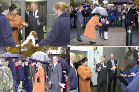 the visit by HM The Queen and Prince Philip to the Hawkshead Campus of the The Royal Veterinary College in October 2003