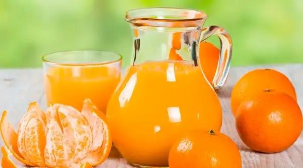 عصير اليوسفي لإعطاء المزيد من الطاقة