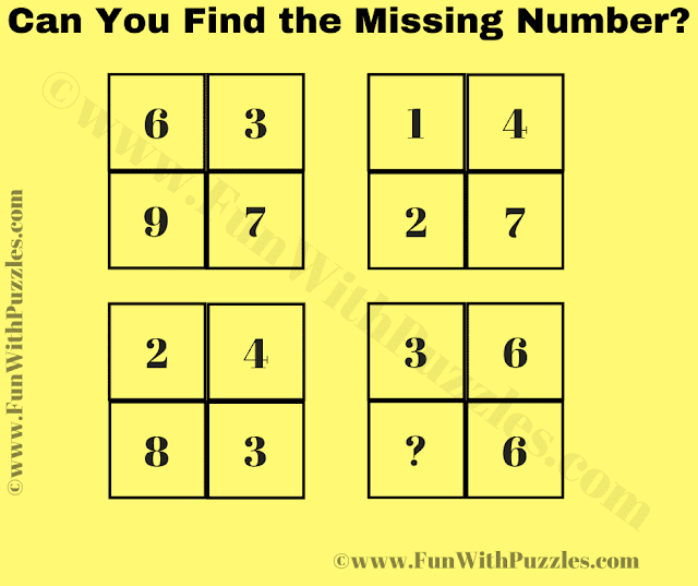 Can you find the missing number in this Logic Maths Puzzle Question?