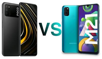 مقارنة بين هاتف Galaxy M21 و Poco M3