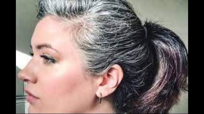 بملعقة ملح واحدة تخلصي نهائيا من الشيب حتى لو كان الشعر كله ابيض . النتيجة من اول استعمال
