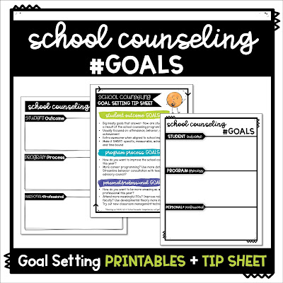 Free printable counseling goals sheet available on TpT