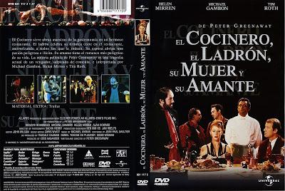 Carátula dvd: El cocinero, el ladrón, su mujer y su amante (1989)