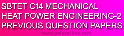 AP DIPLOMA OLD QUESTION PAPERS C-14 DME HEAT POWER ENGINEERING-2