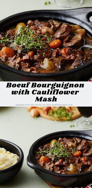 Boeuf Bourguignon with Cauliflower Mash