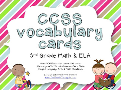 300+ CCSS-Aligned ELA  Math Vocabulary Cards 3rd Grade Thoughts