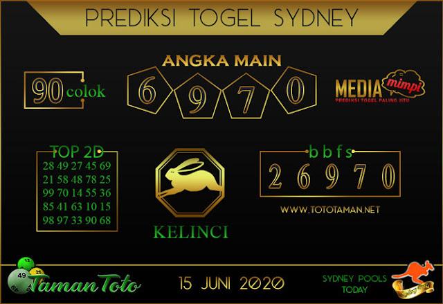 Prediksi Togel SYDNEY TAMAN TOTO 16 JUNI 2020