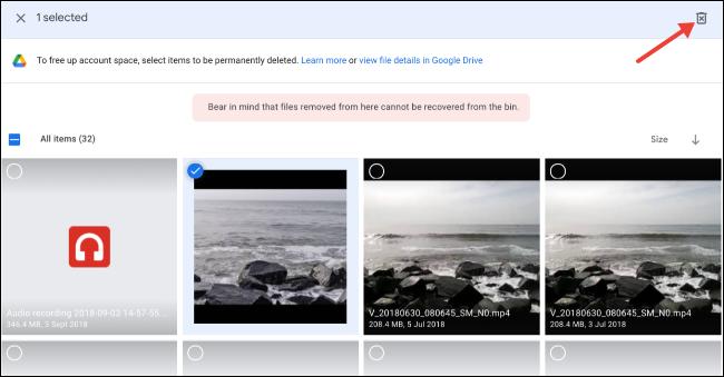 حدد وحذف الملفات الكبيرة على Google Drive