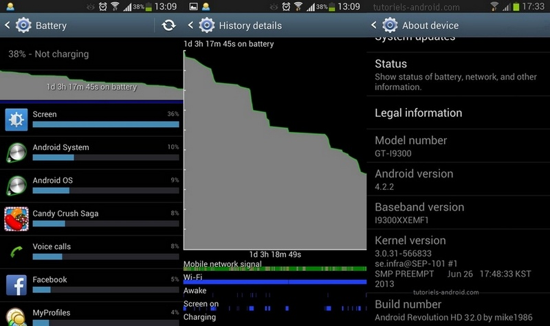 Battery stats Android Revolution HD