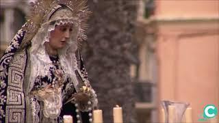 Nuestra Señora de la Soledad por la Plaza de la Catedral. Semana Santa Cádiz 2019